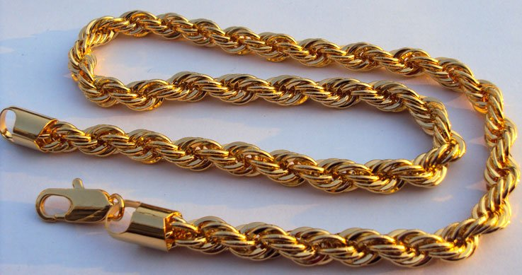 Heavy 140g Rich Men S Yellow Gold Gf Thick Neck Necklace