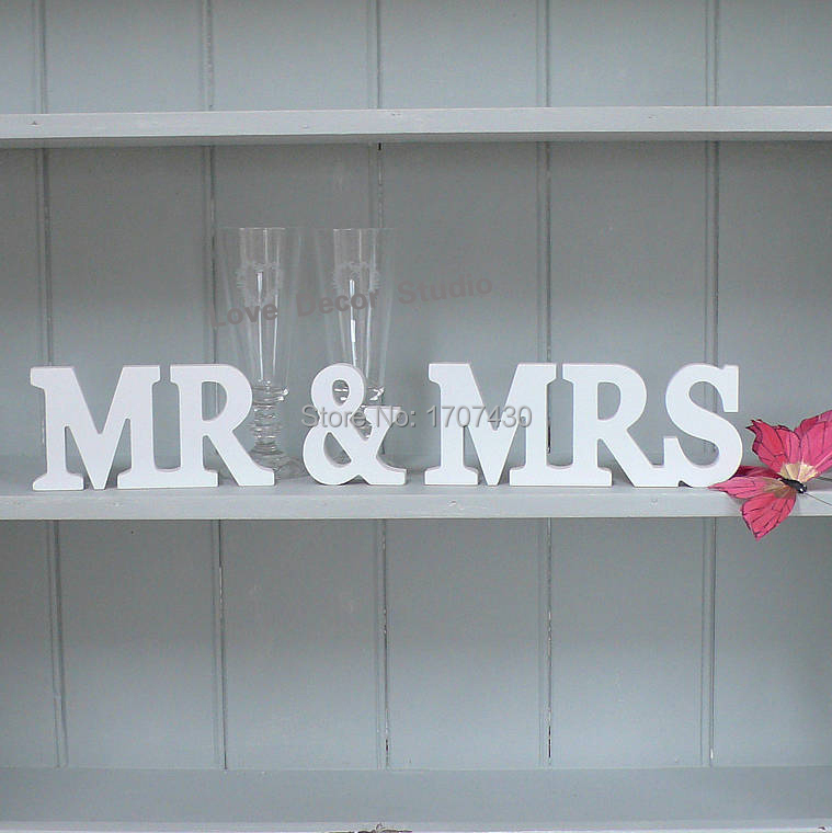 Wedding Signs Mr And Mrs Party Table Name CardsWedding Banquet Seats Cardsbar Top CardEvent Supplies In Figurines Miniatures From