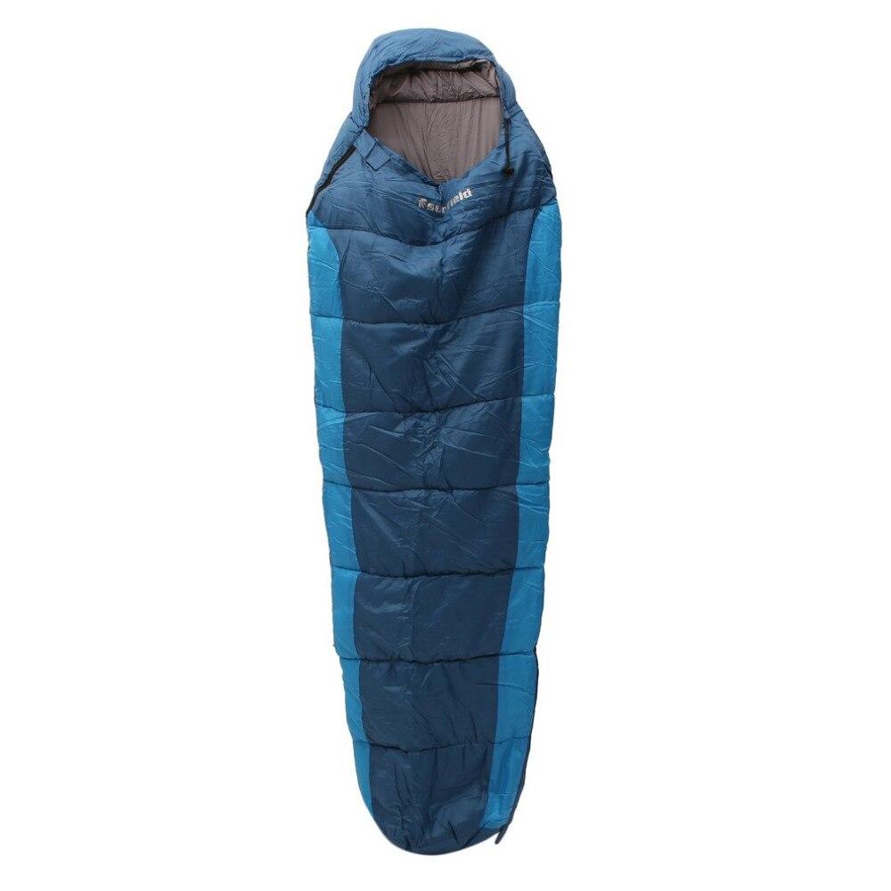 Bolsa de dormir al aire libre de la momia 0-10 grados bolsa de dormir para acampar/senderismo/mochilero envío libre