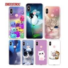 Silicone Phone Case Cats Kawaii for Redmi 7 Y3 Y2 S2 Xiaomi Note 6 6A 5 5A Pro Plus 4 4X Cover
