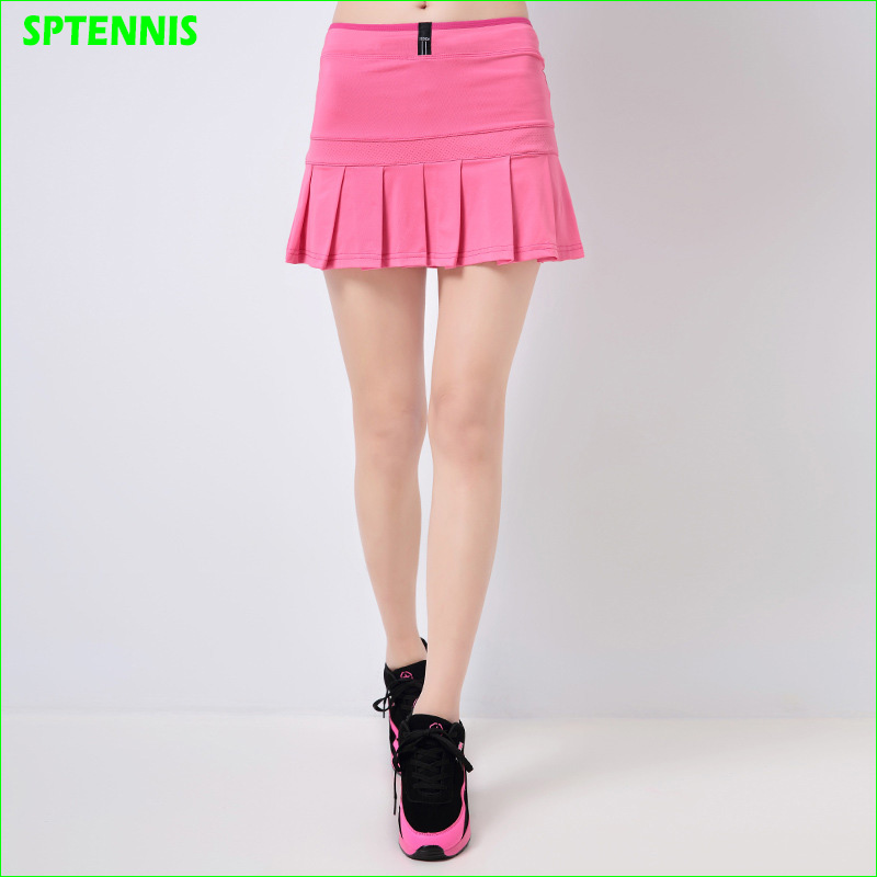 7e673f605d Sports Tennis Skirts Woman Pleated A-line Skirt For Badminton Volleyball  Dance Cheering Anti-