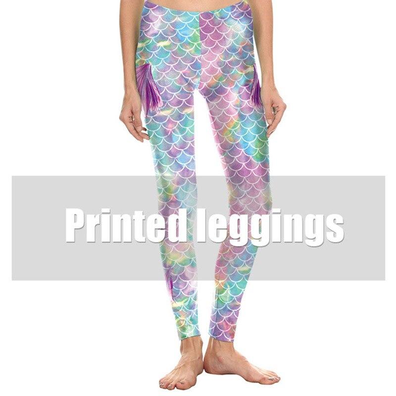a994942311 Mermaid Women Leggings Glitter Colorfull Fish Scale Simulation yogaPants3D  Digital Print Legging Fitness women yoga pants-in Yoga Pants from Sports ...