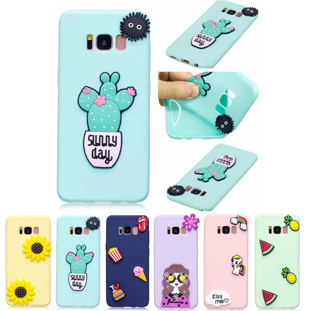 Cute Candy Color 3D Silicone <font><b>Case</b></font> For <font><b>Samsung</b></font> <font><b>Galaxy</b></font> S8 S9 Plus Coque S7 S7edge J3 J5 <font><b>J7</b></font> 2016 A3 A5 2017 Soft TPU Back Cover image