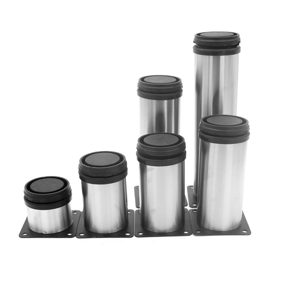5cm-20cm Furniture Adjustable Cabinet Legs Stainless Steel Round Tube Adjustable Foot Cover Thickened Cabinet Foot