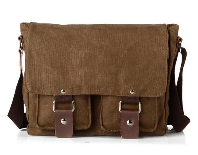 918ab0ecb0 New 2016 Vintage Casual Canvas Shoulder Bag Men Crossbody Bag Canvas Women  Messenger Bag Men s Bag Wholesale Free Shipping
