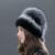 2016 Elegante Real Fur Skullies Gorros Para As Mulheres Cadeia Decorativo Cobertura Cap Chapéu de Pele De Coelho Engrossar Inverno Chapéus Tampas TM-13