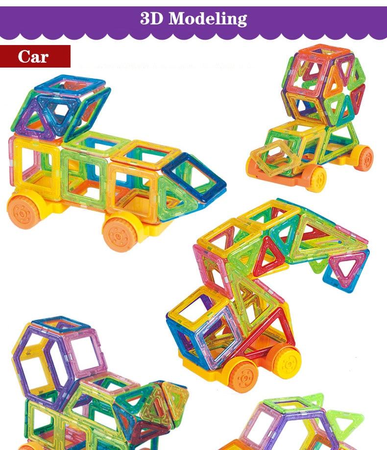 Magnetic Building Blocks 3d car model