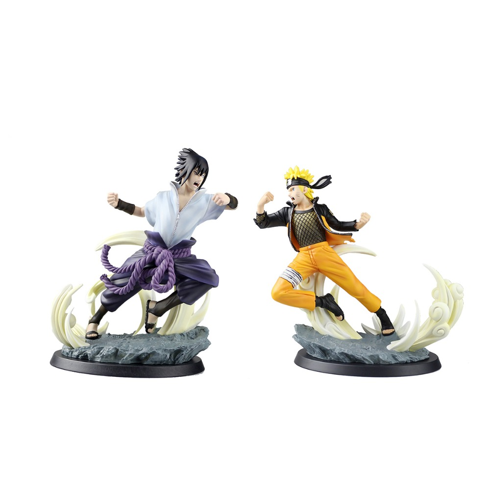 Naruto Shippuden Ultimate Ninja Storm 4 Uzumaki Naruto & Sasuke PVC Action Figures Collectible Model Toy Loose HY077 HY078 HY079 naruto action figures pvc 260mm collectible model toy anime movie naruto shippuden action figure uzumaki naruto 3 style