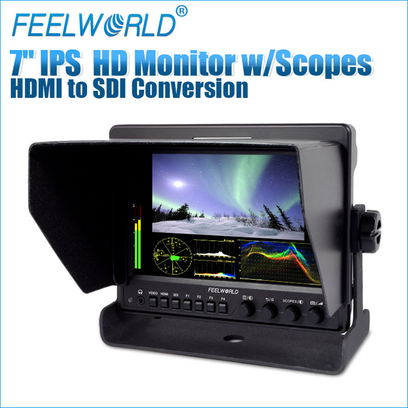 Feelworld 7 Aluminum Design IPS 1280x800 Camera Field Monitor with Waveform Scopes and HDMI converted to SDI output Z7 casio часы casio ef 527d 1a коллекция edifice