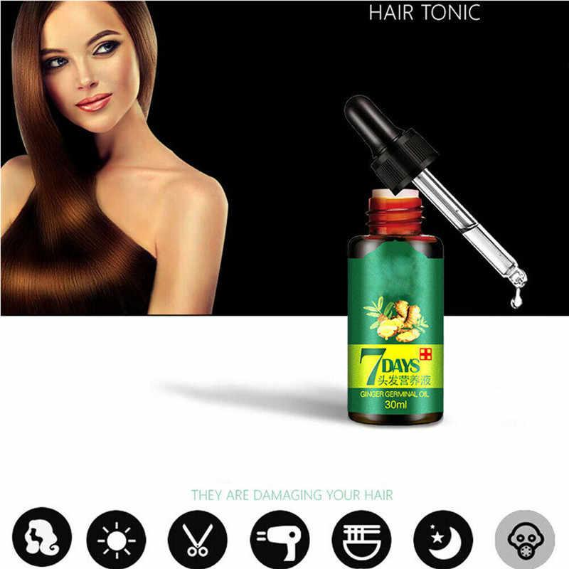 30 ML ที่มีประสิทธิภาพ Fast Growth Hair Serum Essence น้ำมัน ReGrow 7Day ขิง Germinal Hair Growth Serum Hairdressing น้ำมันผมร่วง Treatemen