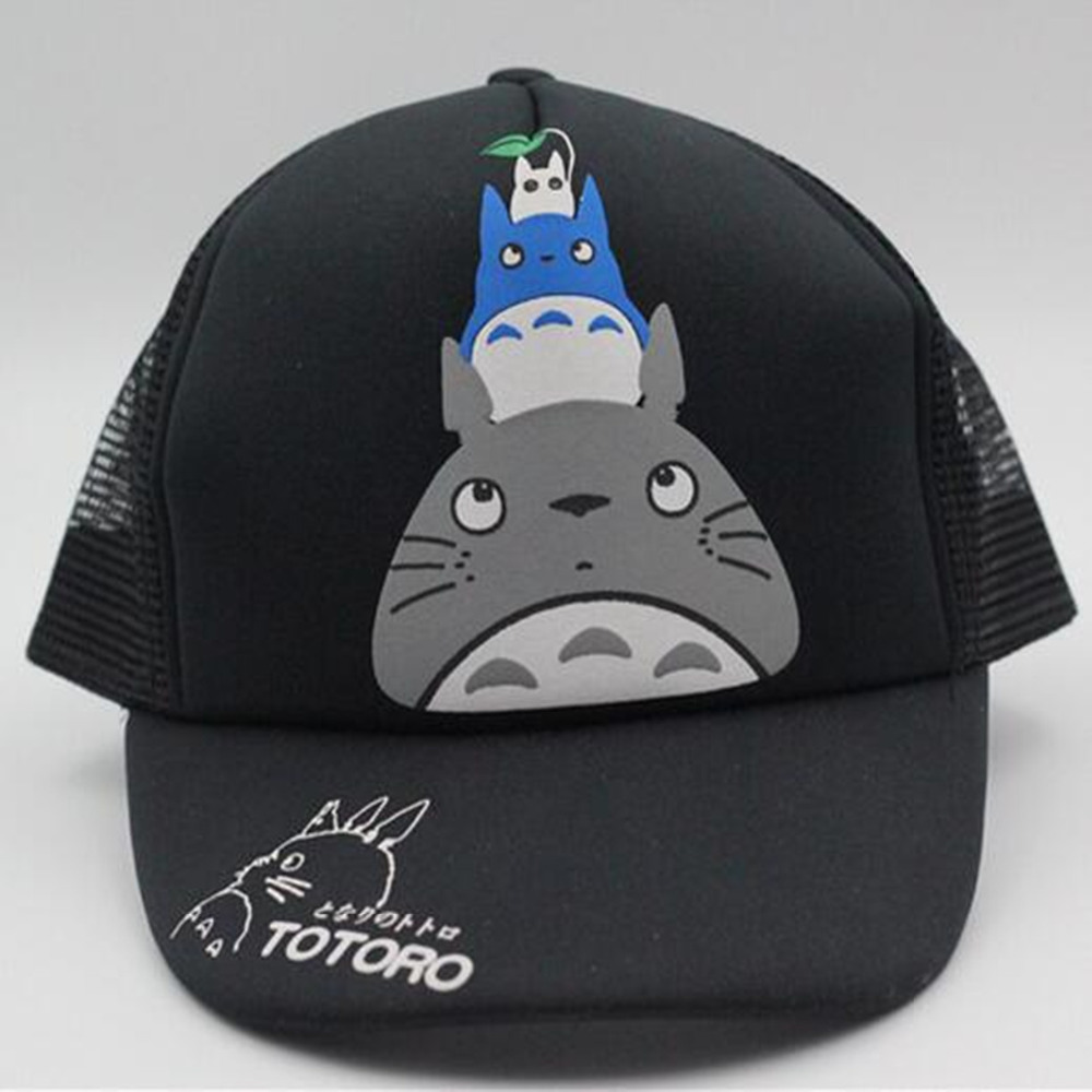 Hot Anime black totoro Los lot Cosplay Cap Neighbor Totoro charm Costume Baseball cap Adult Blank Snapback Cap Summer Cotton Cap