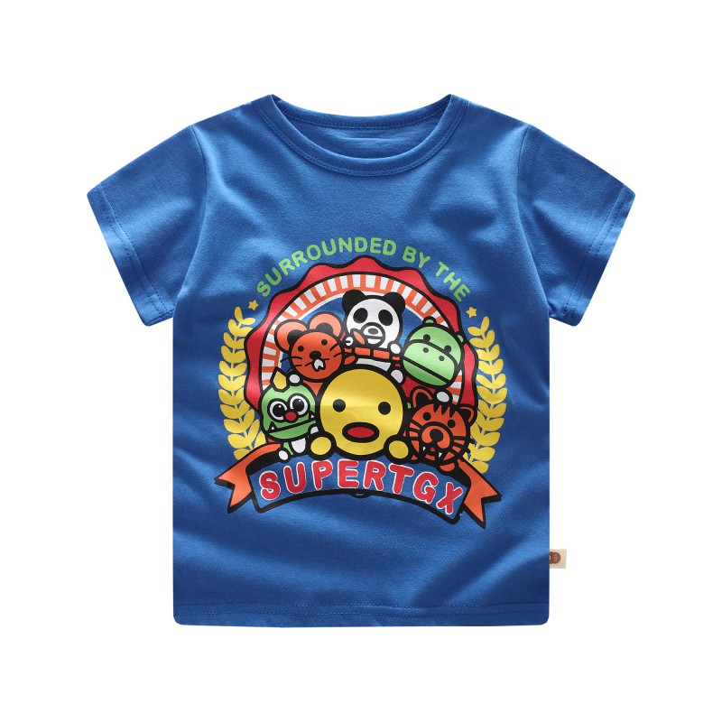 Baby Boy Girl T-Shirt 2018 Summer Toddler Short Sleeve T-Shirt Cute Cartoon Casual Blouse Comfortable Dressing Different Places