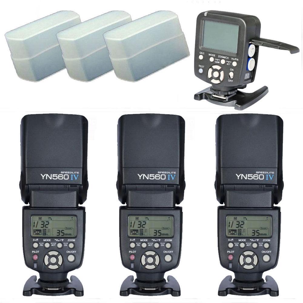 Yongnuo YN560TX LCD Wireless Flash Controller +3pcs YN560 IV Flash kit For Canon yongnuo yn560tx lcd wireless flash controller 3pcs yn560 iv flash kit for nikon