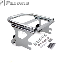 лучшая цена Chrome Motorcycle Detachable Two Up Tour Pak Mounting Luggage Rack for Harley Touring Road King Street Electra Glide 1997-2008