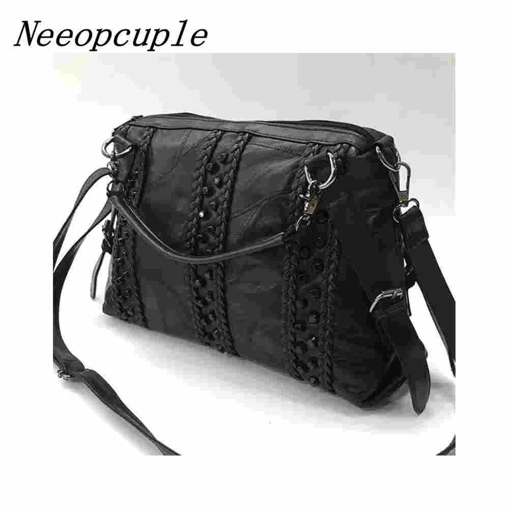 e660263fbe33 Neeopcuple Shopper Name Brand Handbags Women Designers Brand Famous Luxury  Designer High Quality Name Genuine Leather Handbag-in Shoulder Bags from  Luggage ...