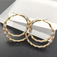 Lanyika Fashion Jewelry Distinctive Abstract circle Big Ear Loops Luxury Wedding Party Romantic Bridal Daily Best Gift
