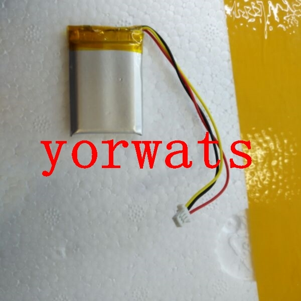 New Hot A Rechargeable Li-ion Cell  3.7V polymer lithium battery 602535 062535 500mah 3 wires with plug