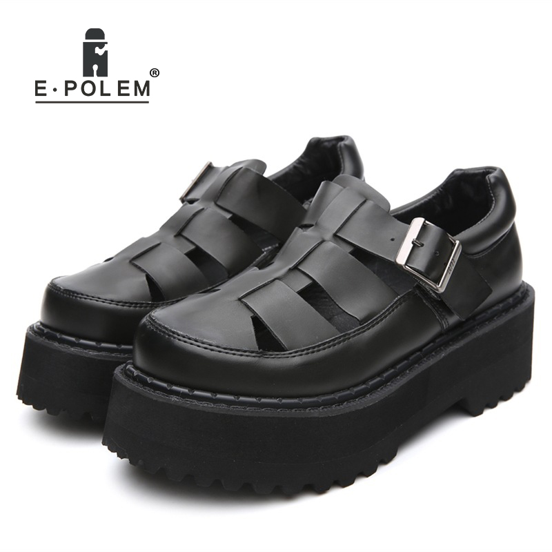 2018 Summer Women Genuine leather Shoes Sandals Personalized Cover Toe Breathable buckle Strap Cage Casual Beach Sandals2018 Summer Women Genuine leather Shoes Sandals Personalized Cover Toe Breathable buckle Strap Cage Casual Beach Sandals