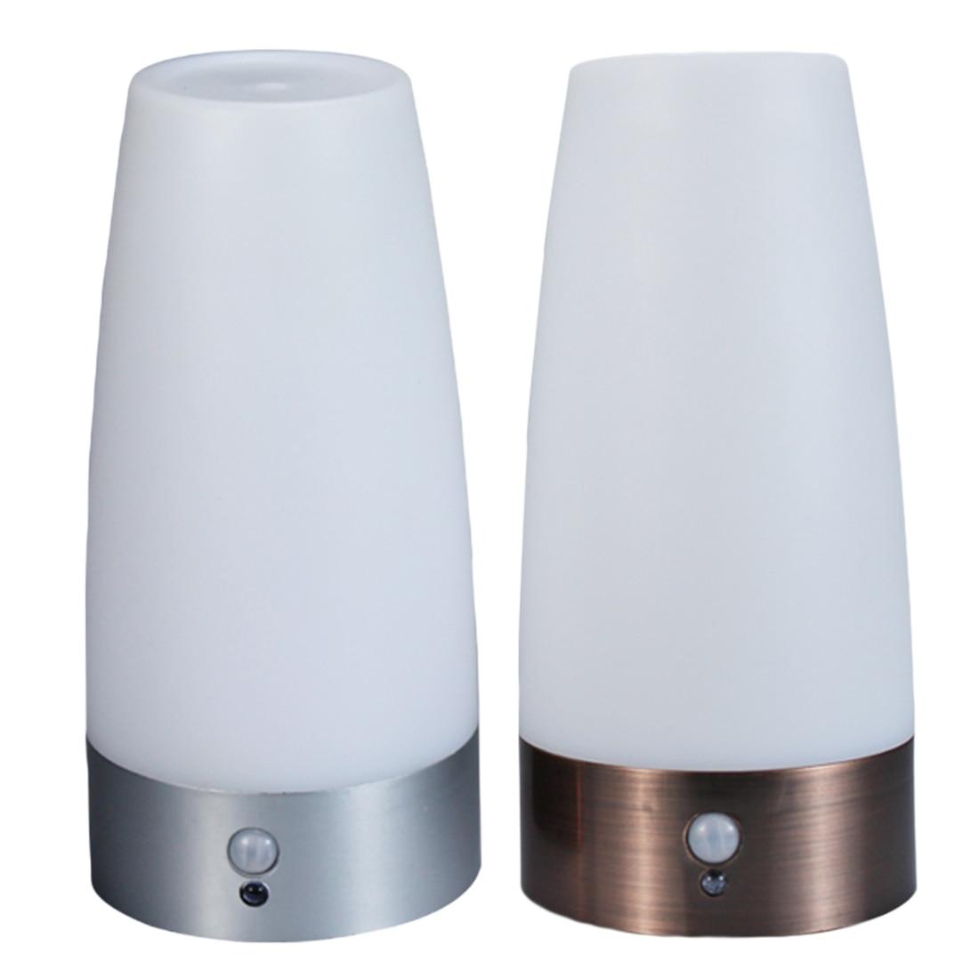 PIR Wireless LED Motion Sensor Retro Bedroom Night Light Battery Powered LED Table Lamp Nightlight For Toilet Seat