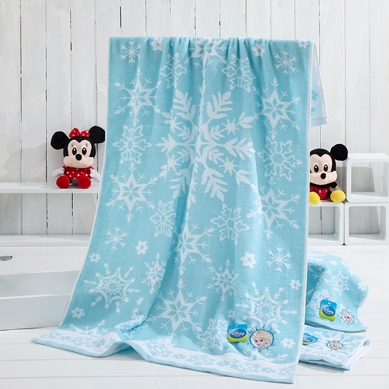 Disney 130*70/72*34 Cm Cartoon Animation Towels Authorized Products Ice Romance Series Face Bath Towels Square Towels