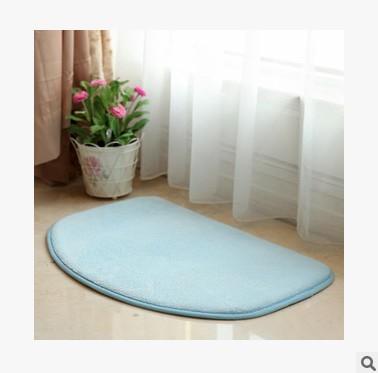 Blue Dog Pad 40x60cm 50x80cm Flowers Rug Printing Rectangular Soft Kitchen Bathroom Confined Aquarius Home Door Carpet Mats