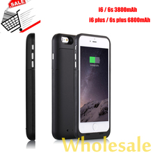 3800/6800mAh For iPhone 6 6s Plus Power Case Mobile Charger Cover Backup Battery Pack Extend Battery Case for iPhone 6