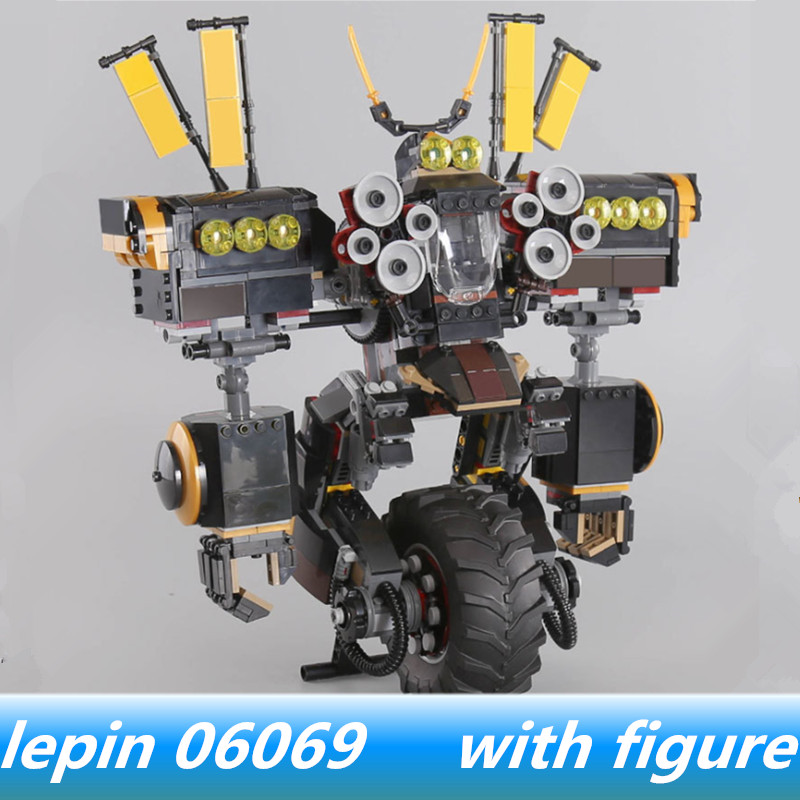 Lepin 06069 lepin Ninjagoes Cole's Quake Mech Jay Kai A Gang's Unicycle Compatible legoing Ninjagoes legoing 70632 bricks blocks lepine 06069 1346 pcs ninjagoe quake mech set jay kai a gang s model building blocks toys for children compatible legoe 70632