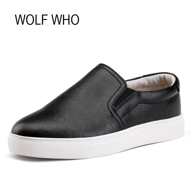 WOLF WHO Women Loafers Slipon Slipony Women Shoes Female Loafers Casual Tenis Femininos Casual h-048 wolf who genuine leather women shoes ladies spring krasovki slipony slip on loafers woman tenis feminino casual h 049