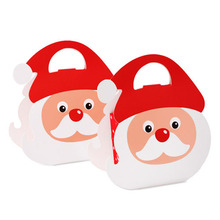 10pcs/lot Merry Christmas Present Box Santa Claus Paper Hanging Candy DIY Colorful Birthday Party Favor Gift Boxes