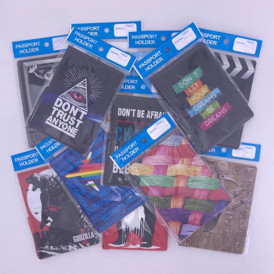 World Trip  Travel Passport Covers For Men , PU Leather ID Card Bag Passport Holder Passport Wallets 14*9.6cm
