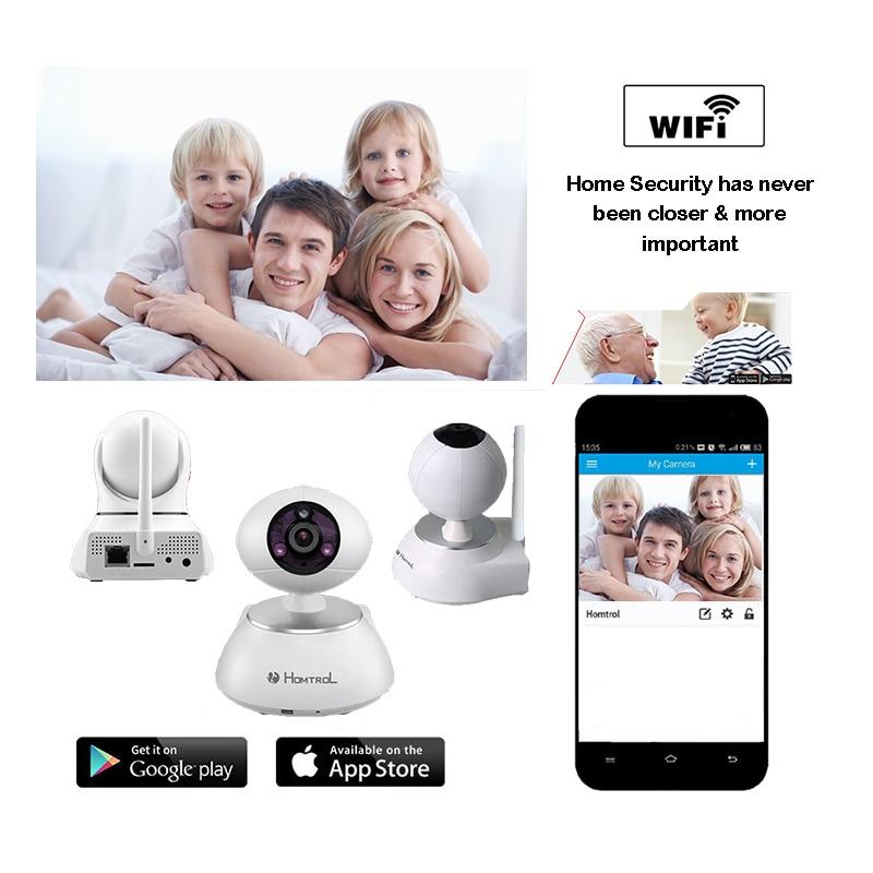 Wifi IP Camera Wireless 720P HD Smart Camera P2P Baby Monitor CCTV Homtrol Security Camera Home Protection Mobile Remote Cam hd 720p cctv camera wireless p2p cctv monitor 1 0mp ip camera plug