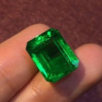 318 Gemstone GRS Cert Zambia 10.57ct Faceted Vivid Green Natural Emerald Gemstones Loose Gemstones Loose Stone Gems