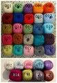 3 pçs/lote Color mix. Mohair suéter de tricô fio mão de malha lenços Angola mohair fio multicolor
