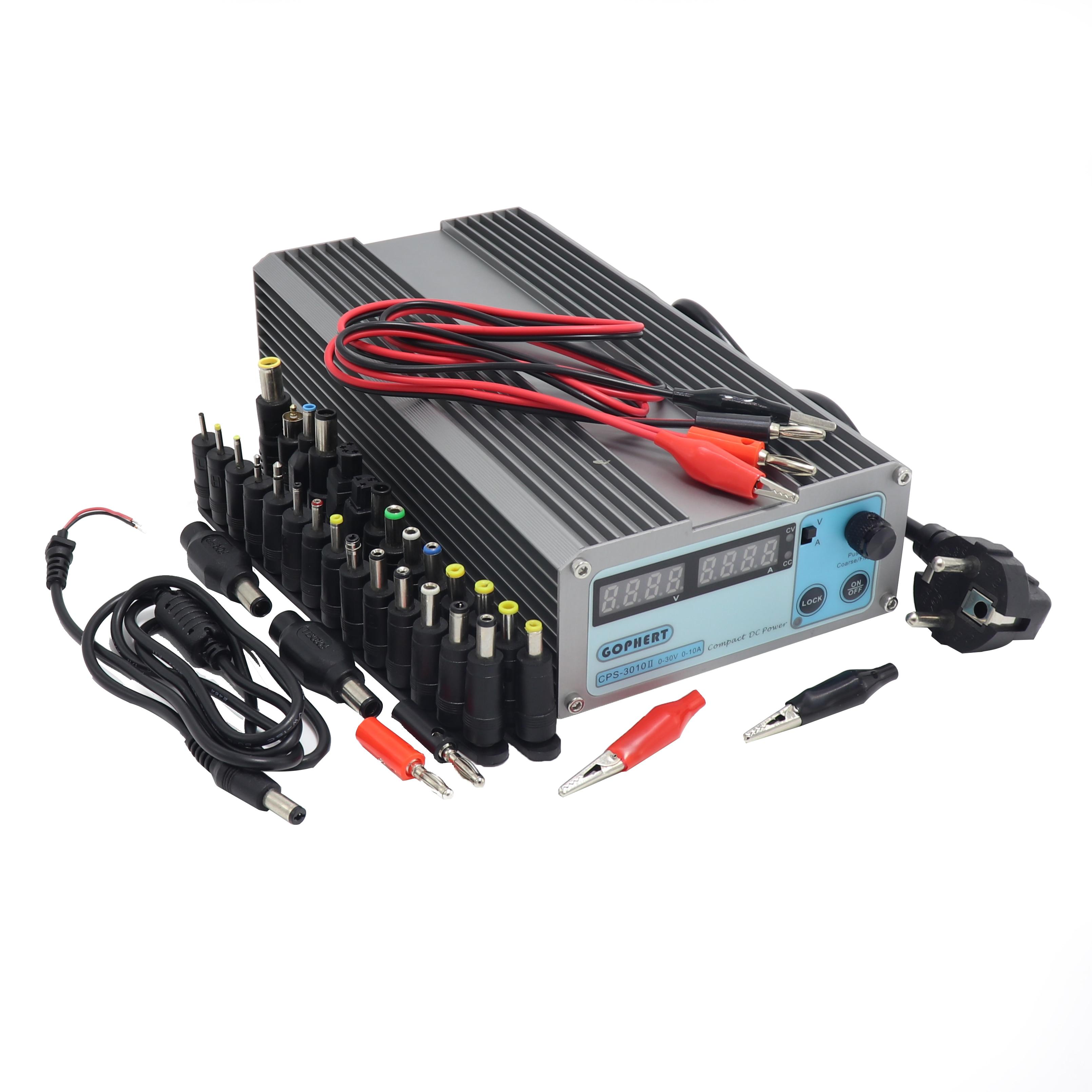 MiniCPS-3010II DC alimentation + banane clip fil EU UK US adaptateur OVP/OCP/OTP faible puissance 110 V-230 V 0-30 v 0-10A CPS-3010