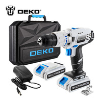 DEKO GCD18DU3 18V DC New Design Mobile Power Supply Lithium Ion Battery Cordless Drill Power Drill Impact Drill Electric Drill
