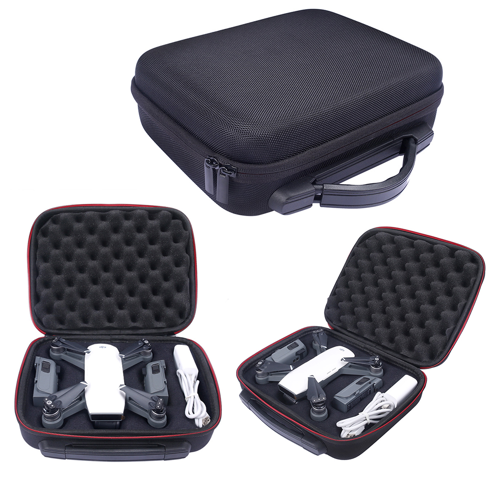 2017Waterproof Hardshell Handbag Carry Box Pouch Cover Bag Case for DJI SPARK Quadcopter Drone 2 Batteries and Other Accessories rcyago safety shipping travel hardshell case suitcase for dji goggles vr glasses storage bag box for dji spark drone accessories