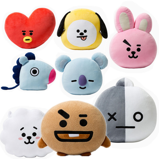 0ffa290ea5b1 Big 50cm Kpop BTS Bt21 Plush Doll Toys Plush Pillow Cushion TATA VAN COOKY  CHIMMY SHOOKY