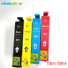 4 Pk- Printer Ink Cartridge Set for EPSON  T0611 T0612 T0613 T0614