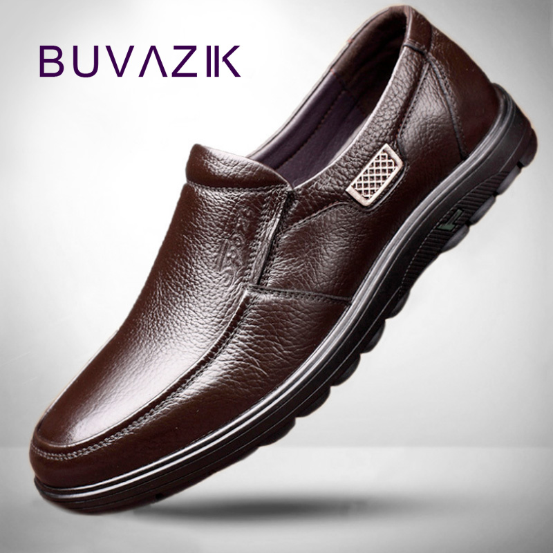BUVAZIK Mens Shoes Casual Fashion Flat Man Shoes Leather Genuine Zapatos De Hombre High Quality Breathable