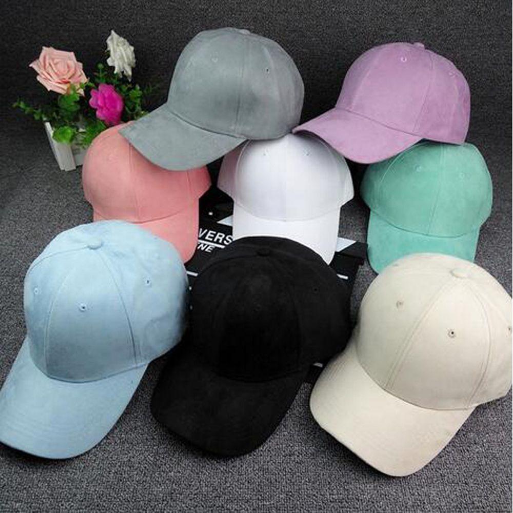 204cdba8af316 Men Women Unisex Hip Hop Baseball Cap Black White Pink Solid color Hat  Visor Sport Sun Adjustable Hats