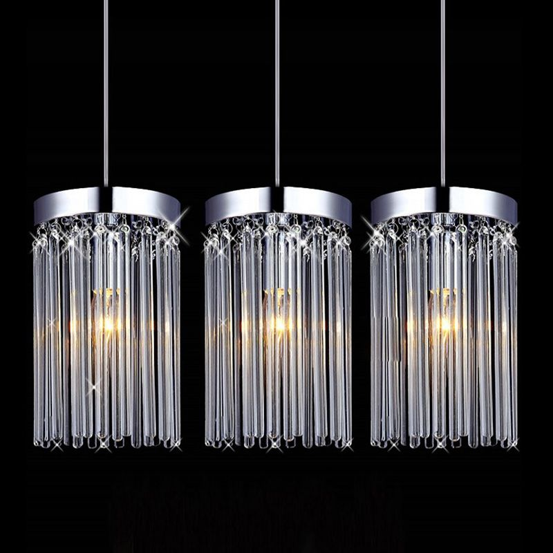 Fashion Restaurant Crystal Pendant Lights Modern Simple Dining Room Pendant Lamps Bar Cafe Pendant Lamp rectangular dining room pendant lights european style led crystal pendant lights modern restaurant lamp bar cafe creative lamps