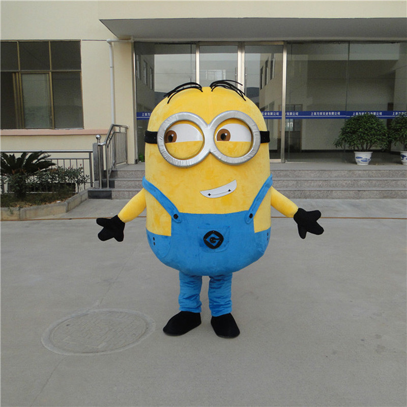 Despicable Me 2 Mascot Costume Despicable Me Minion Costume mascotte fancy Cartoon costume Gratis verzending