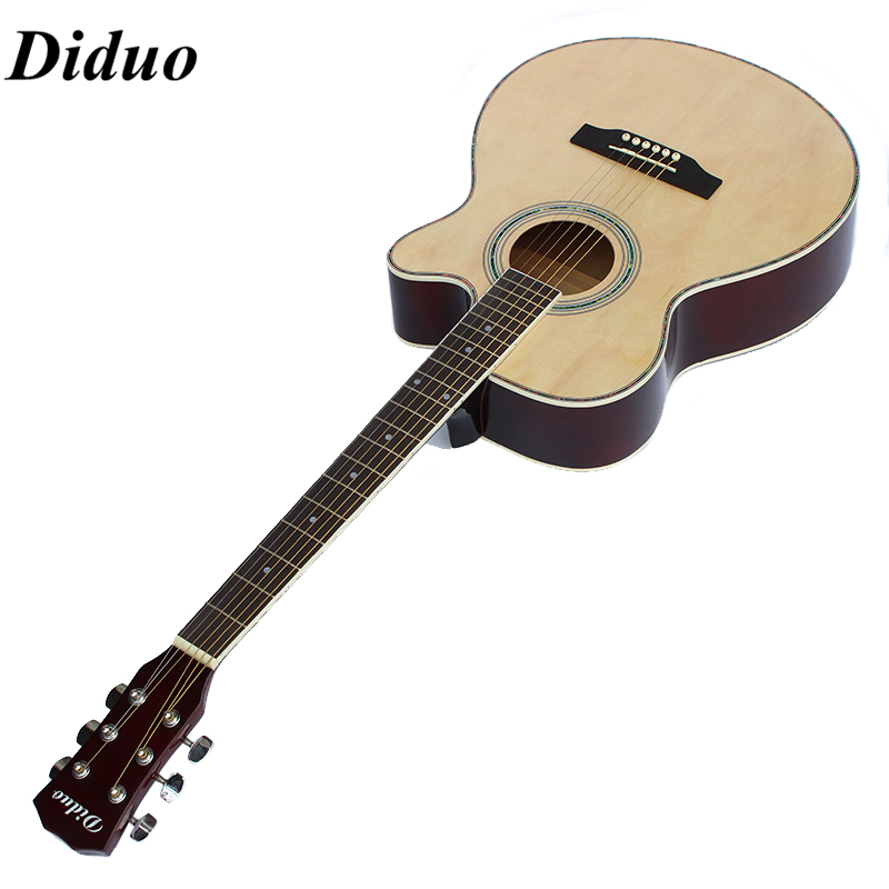 Diduo 41inch Basswood Acoustic Guitar Cutaway Rounded Corner Wood Guitar new newborn baby girl rompers pajamas long sleeve cotton romper clothes baby jumpsuit for babies animal infant boy girl clothing