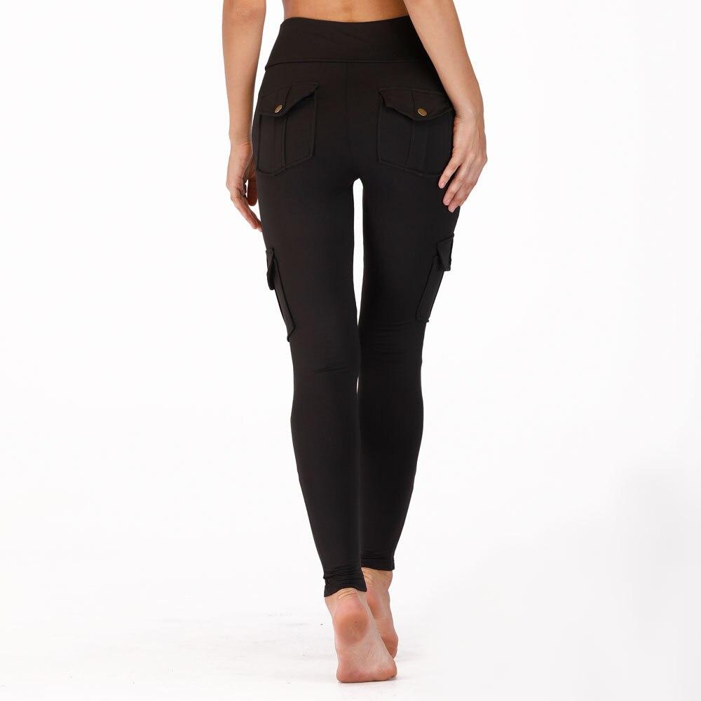 Image 5 - Nessaj High Waist Fitness Leggings Women Pocket Leggings Solid Color Push Up Legging Women Clothing Polyester Leggings-in Leggings from Women's Clothing
