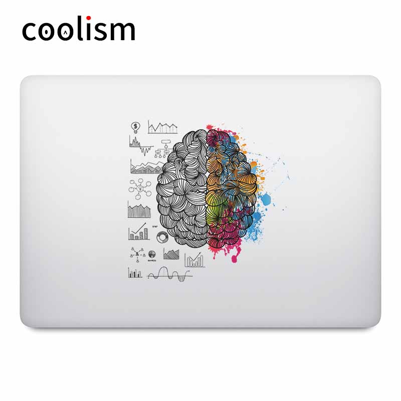 Brain Power Colorful <font><b>laptop</b></font> stickers for Macbook Decal Pro Air Retina 11 12 13 15 <font><b>inch</b></font> Mac Mi Notebook Vinyl Surface Book Skin image