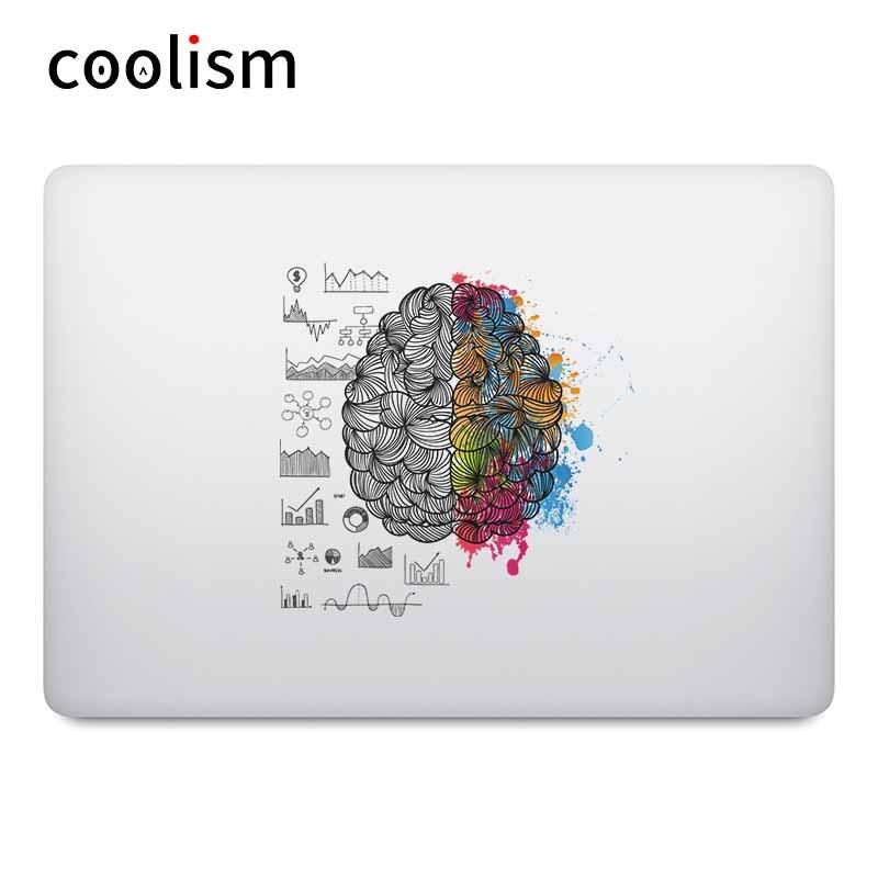 Brain Power Colorful laptop stickers for Macbook Decal Pro Air Retina 11 12 13 15 inch Mac Mi Notebook Vinyl Surface Book Skin