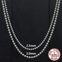 100% S925 sterling silver necklace personalized fashion classic jewelry punk style sweater chain ball cross shape 2018 new gift