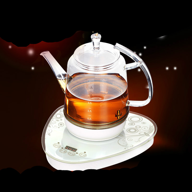 Electric kettle Glass electric boiling tea heater heat preservation pot flower Overheat Protection