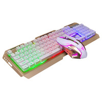 New 104 Keys Mechanical Keyboard and Mouse USB Wired RGB LED Backlit illuminated Gaming Keyboard with 3 Color Switches for PC