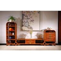 3 шт./компл. Гостиная стойка для ТВ кабинет консольная мебель ежа палисандр мебель из красного дерева под старину ТВ стенд